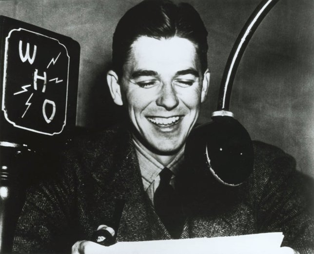 Ronald Reagan as a WHO Radio