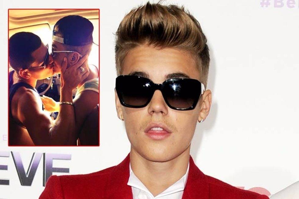 Justin Bieber besando a un chico La Verdad