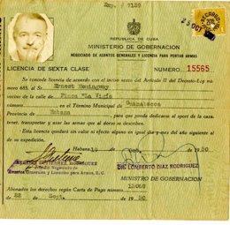 Documento de Ernest Hemingway