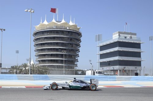 Lewis Hamilton (Mercedes) en Bahréin