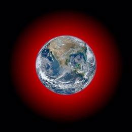 Emisiones infrarrojas desde la Tierra
