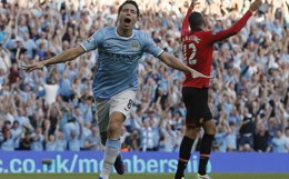 "Foto: Nasri (City): ""Lucharemos hasta el final"" (PHIL NOBLE / REUTERS)"