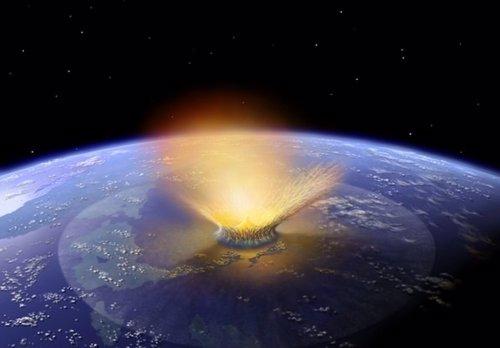 Asteroide cae sobre la Tierra