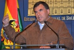 El ministro de la Presidencia de Bolivia, Juan Ramón Quintana.