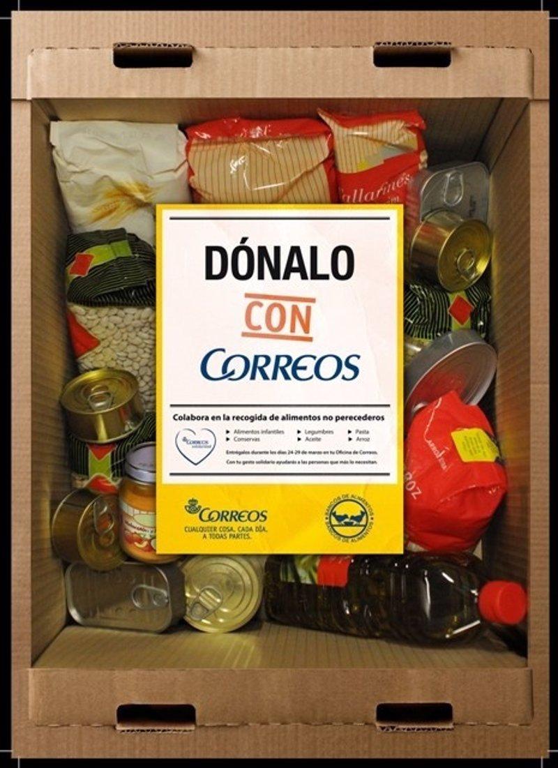Las oficinas de correos recogen comida para colaborar con for Oficina correos murcia