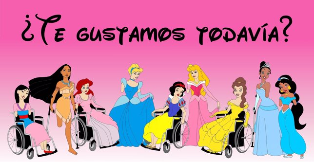 Alexsandro Palombo ilustra a las princesas Disney con discapacidad