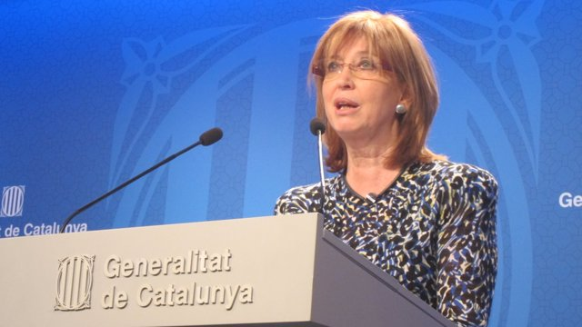 La consellera Irene Rigau, tras el Consell Executiu