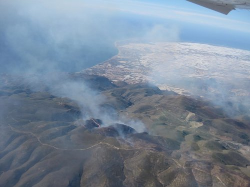 Incendio forestal en Sierra de Gádor