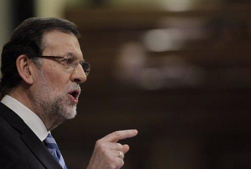 Mariano Rajoy, presidente del Gobierno, en el hemiciclo