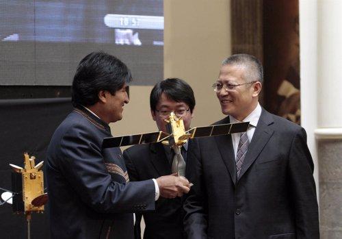 El presidente boliviano ya piensa en otro satélite de prospección
