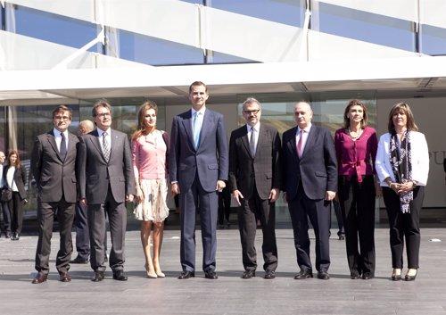 Los Príncipes de Asturias presiden la inauguración de la Torre Puig