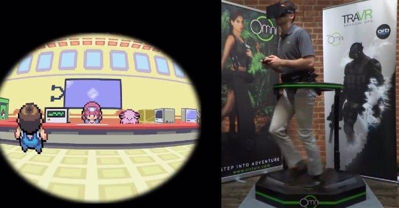 ... en una experiencia de realidad virtual con Oculus Rift y Virtuix Omni