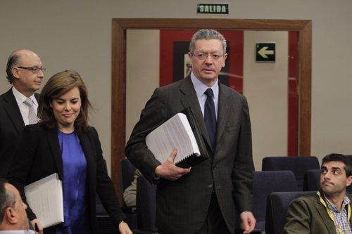 Alberto Ruiz-Gallardón, consejo de ministros
