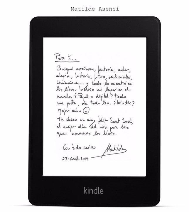 Firma de Matilde Asensi para Kindle