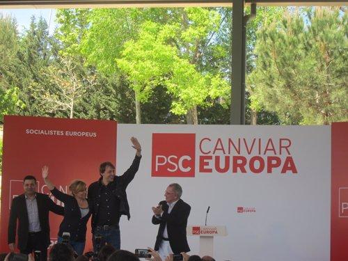 E.Valenciano (PSOE) y J.López (PSC)