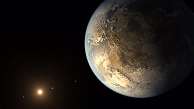 Recreación del planeta Kepler-186f