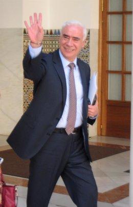 El consejero de Educación, Cultura y Deportes, Luciano Alonso, en el Parlamento