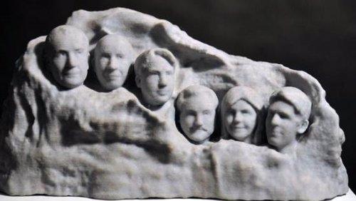 Monte Rushmore impresión 3D