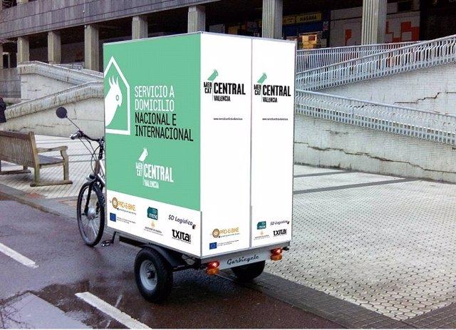 El Mercado Central reparte en bicicleta eléctrica