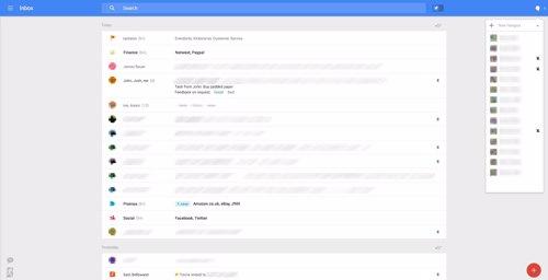 Imagen del nuevo diseño de Gmail