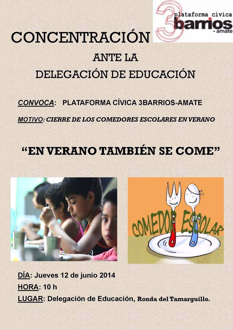 Vecinos de tres barrios amate se movilizan para que abran los comedores escolares en verano - Comedores escolares barcelona ...