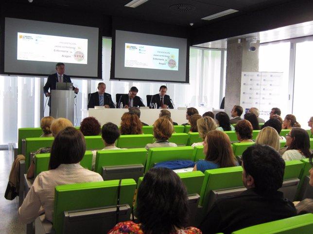 Presentación de la Unidad Estratégica de Enfermería de Aragón en el CIBA