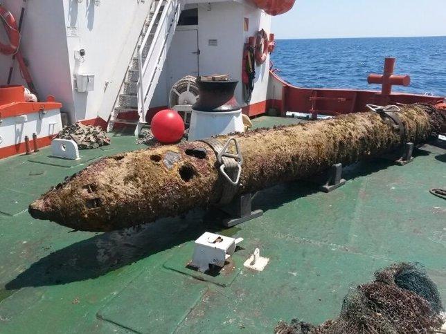 Imagen del torpedo localizado