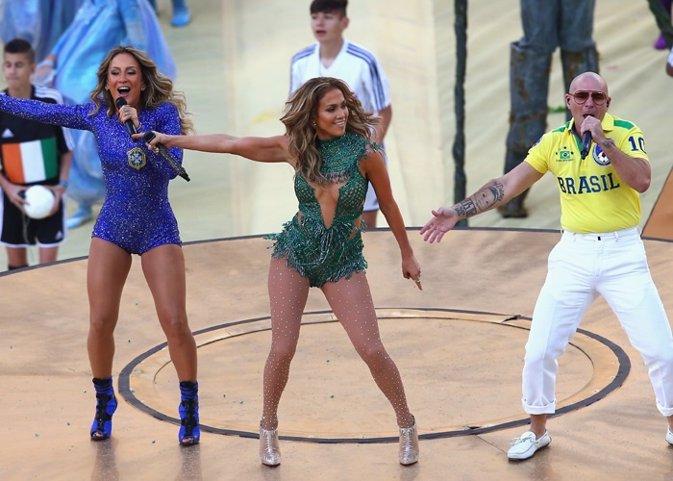 Ceremonia inaugural del Mundial Brasil y playback Pitbull Jennifer Lóp