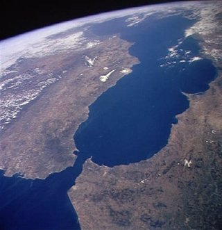 Estrecho de Gibraltar visto desde el espacio