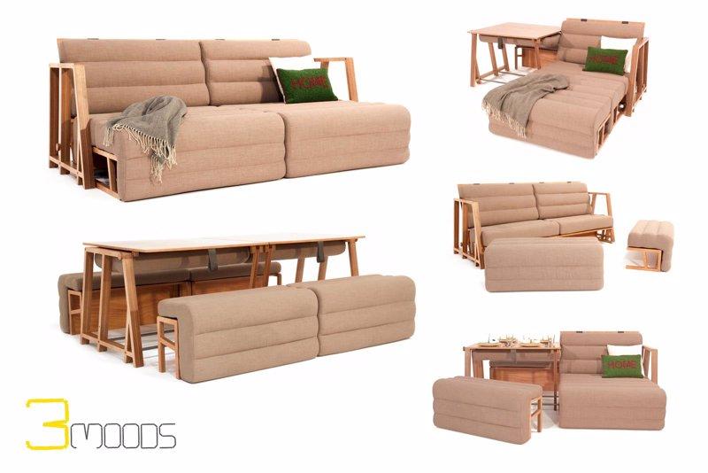 Un dise ador valenciano crea un mueble transformable en - Muebles cama plegables para salon ...