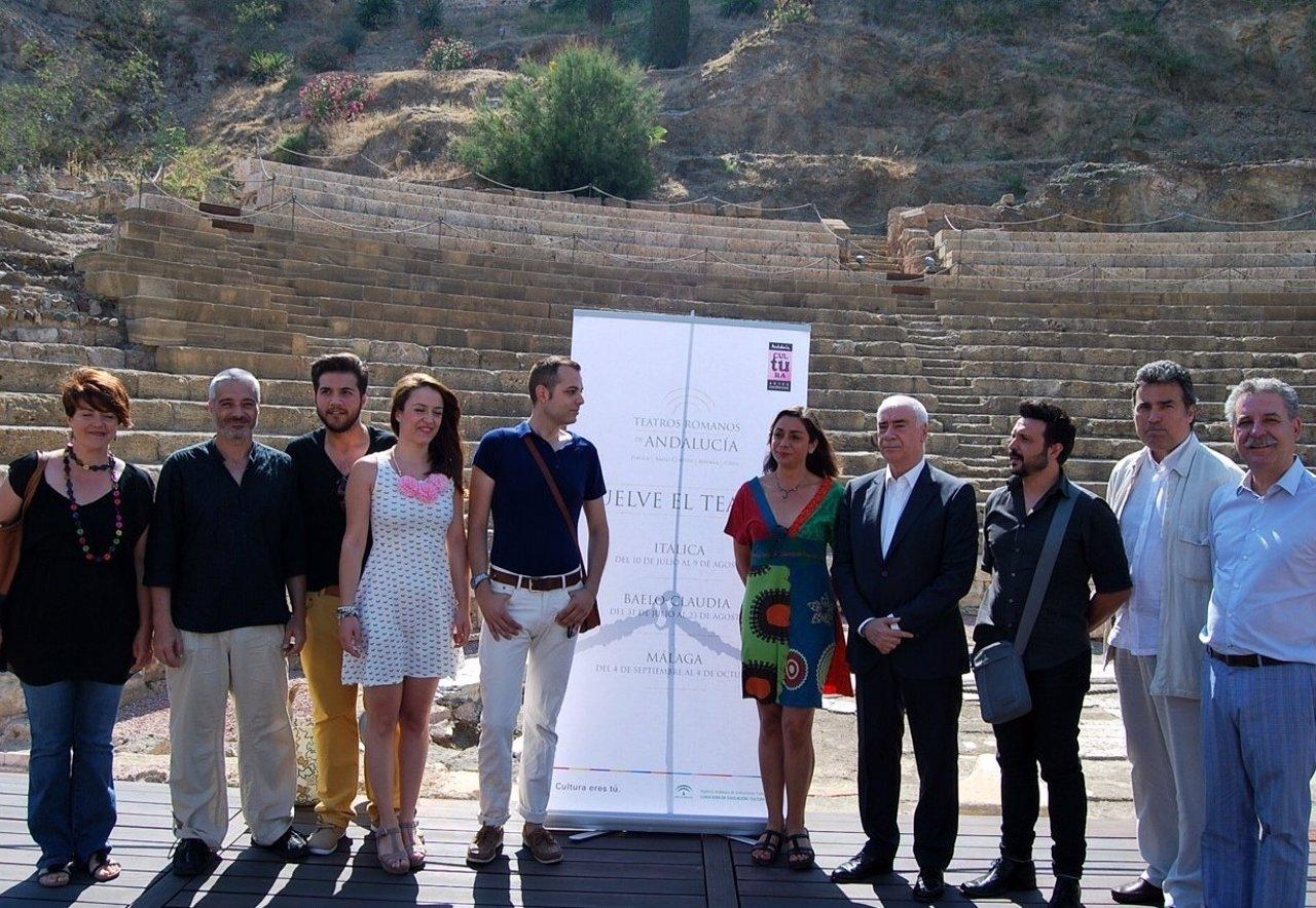 Luciano Alonso presenta 'Teatros romanos de Andalucía' Teatro Romano Málaga