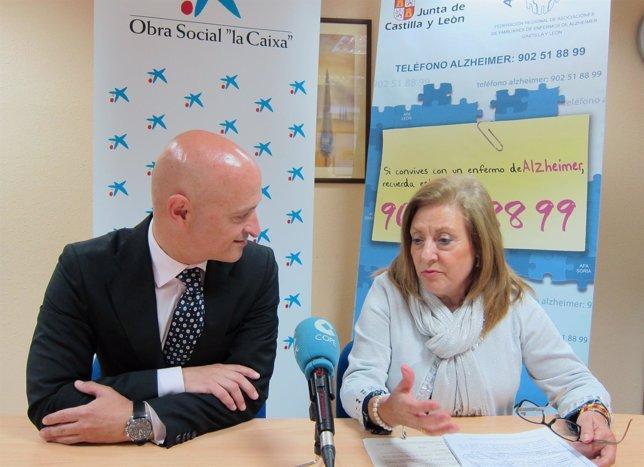 Firma del convenio de colaboración entre La Caixa y Afacayle