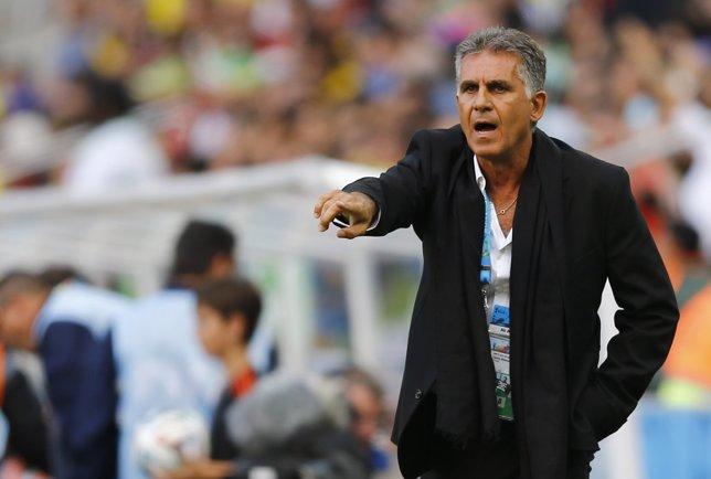 Carlos Queiroz, seleccionador de Irán, durante el Mundial de Brasil