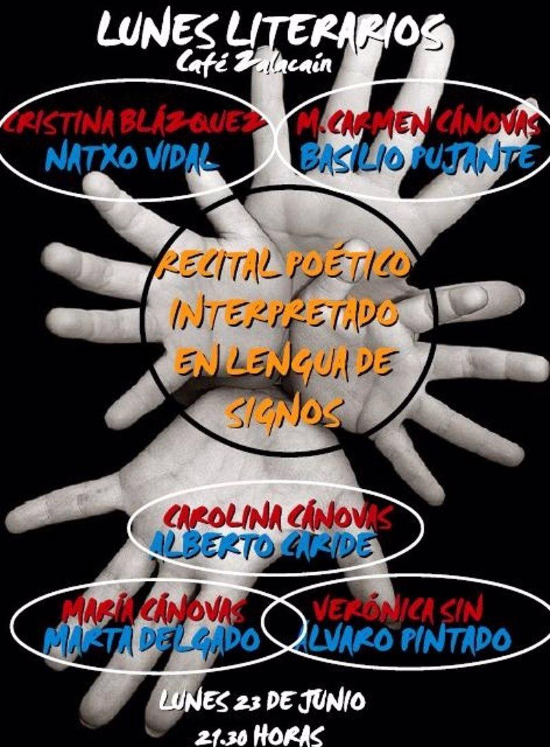 Recital de poesía y microrrelato interpretado en Lengua de Signos - Murcia 23/06/14 Fotonoticia_20140620184242_800