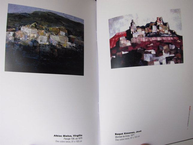 Catálogo con dos de las obras de la exposición de 'Naturalezas y arquitecturas'