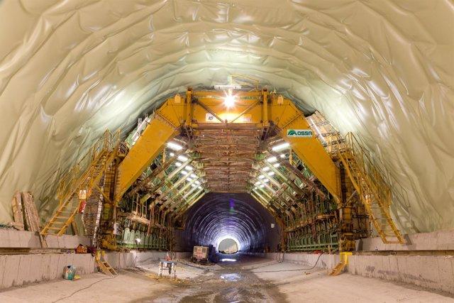 Uno de los túneles construidos por el grupo Ossa
