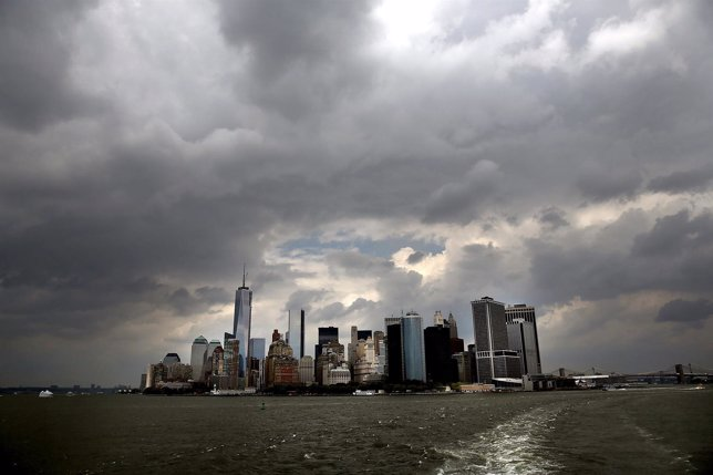 NEW YORK, NY - JUNE 11:  Buildings on the Manhattan skyline are seen from the St