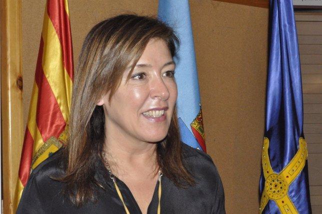 La consejera de Bienestar y Trabajo de la Xunta este lunes en Zaragoza