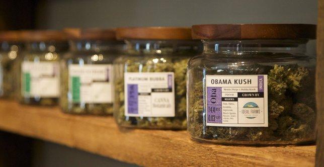 Marihuana en un dispensario médico en Portland, Oregon.
