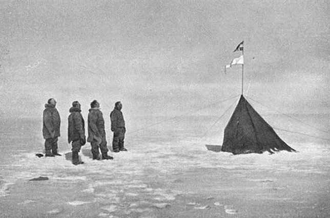 Amundsen en el Polo Sur