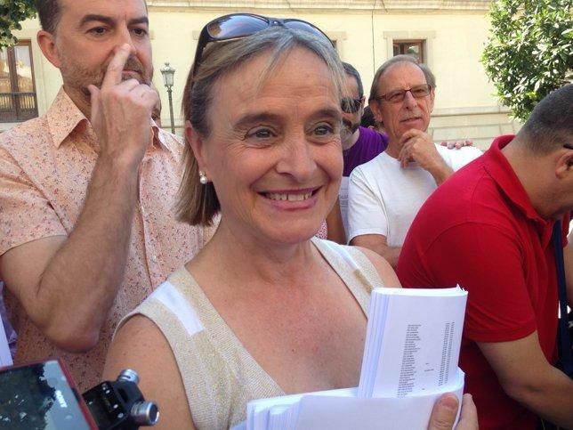 Carmen Bajo, condenada por un piquete en la  huelga en 2012