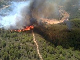 Foto: Infoca da por extinguido el incendio forestal en Almonaster La Real (EUROPA PRESS/INFOCA)