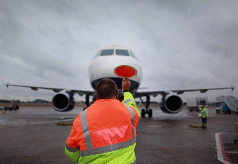 Trabajador aeropuerto