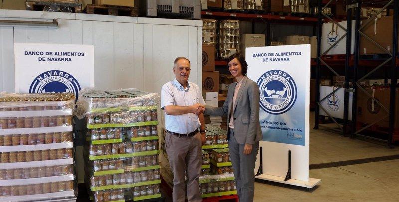 Mercadona entrega kilos de productos al banco de alimentos - Banco de alimentos de navarra ...