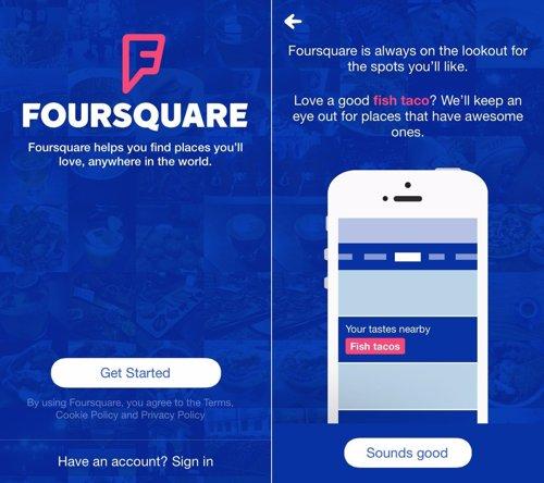 nuevo aspecto Foursquare