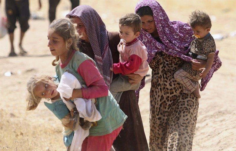 camión con yazidíes