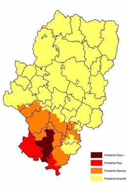Foto: Prealerta roja + por riesgo de incendios forestales en el valle del Turia (GOBIERNO DE ARAGÓN)