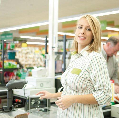 Trabajadora de Mercadona embarazada