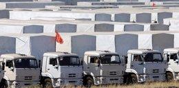 Foto: Los primeros camiones del convoy ruso con ayuda avanzan hacia Ucrania (REUTERS/MAXIM SHEMETOV)