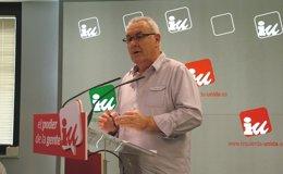 """Foto: Cayo Lara denuncia el """"golpe de Estado a la democracia municipal que quiere dar el PP"""" con su reforma electoral (IU)"""
